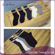 Custom fashion man white and black socks
