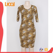charming stretchy tiger print dress for African women