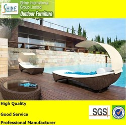 CT2014441 Wholesale Furniture Outdoor Bed with Sun Shade