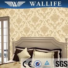 LV10104 China Luxury velvet vinyl flock wallpaper