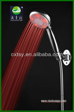 LED multifunction shower head ABS chromed rain shower Temperature control changed colorful hand shower beauty cixi ningboLED606