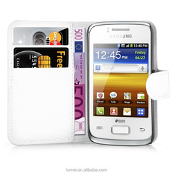For Samsung Galaxy Young 2 Wallet Flip PU Leather Case Cover Pouch