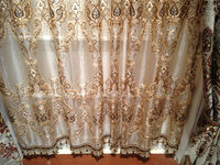 China jacquard stripe sheer curtain