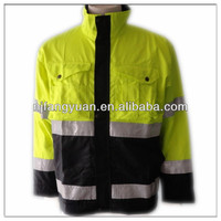 DFW-P1042 100% polyester worker's reflective strip fluorescent safety jacket
