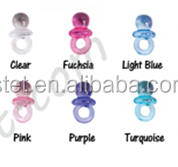 2015 Decorative Clear Baby Pacifier Party Favors