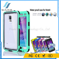 For Samsung Note 4 Case Cover Waterproof Shockproof With Button Green