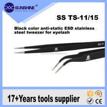 Eyelash Extension Tweezers, ESD anti-static stainless steel tweezer for computer repair tools