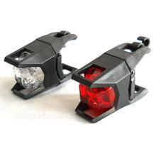 2 LED silicone front bicycle helmet mount bike light