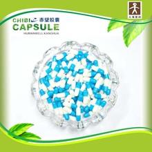 size 00#, 0#, 1#, 2#, 3#, 4# hard empty gelatin blue and white capsule