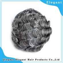 Wholesales indian gray hair natiral wave human remy hair full lace wig toupee