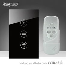 Hot Wallpad LED Black Glass 110~250V US/Australia Standard 3 gang Wireless Remote Control Power Window Curtain Blinder Switch