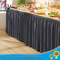 Luxury Washable Polyester Hotel Table Skirting