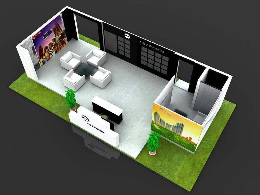 Exhibition Booth Equipment : Exhibition booth portable photo dispaly