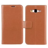 Lichee Texture Flip Leather Case for Samsung Galaxy Grand Prime with Stand and Credit Card Slots