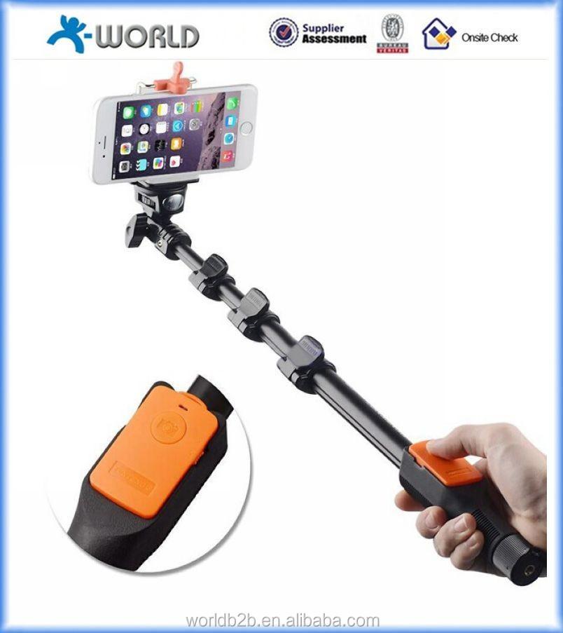 Новые продукты 2015 беспроводной монопод selfie палка, Bluetooth монопод selfie палка, Bluetooth камера беспроводная монопод