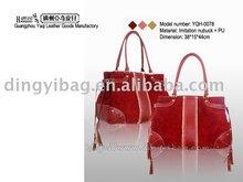 Lady Maroon fringe imitation nubuck single rope Hand Bag