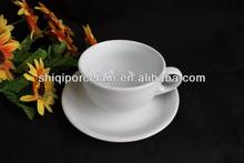 90cc/220cc cheap plain white porcelain tea cup and saucer