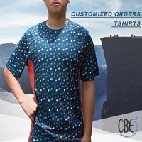 [2015 hot sale apparel] Designer's clothing blue and orange polyester shirts for men