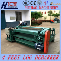 wood log debarking and rounding machine in plywood manufacturer, 4 ft automatic wood barking machine for plywood