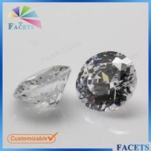 Facetas piedras sueltas CZ Diamond Cut piedra preciosa redonda precios