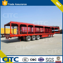 lowboy goose neck two floor /double floor tri-axle lowbed transport bike /toy car car transport semi truck trailer