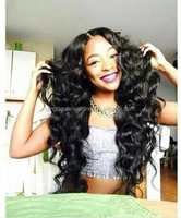 Top Beauty Stock Natural Looking Loose Wave Brazilian Human Hair monofilament wig