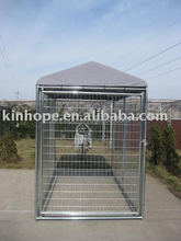 hot dipped galvanized steel dog kennel with A-frame top