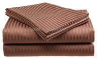 100% polyester Microfiber brushed stripe embossed sheet set