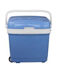 AQ-30L car portable cooler and warmer cooler box mini fridge with trolley