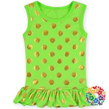 New design! baby tank top kids clothing suppliers china 100 % cotton baby ruffle shirt baby girls polka dot t shirt