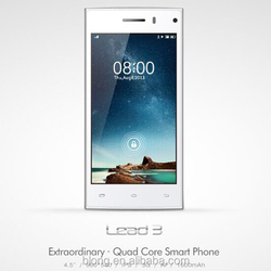 Leagoo Lead 3 Smart phone 4.5 inch MTK6582 Quad Core Android 4.4 Mobile Phone 5MP Dual Sim 3G Cheap Cell Phone