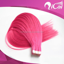 Bright-coloured Tape Hair 20Pcs/Lot Soft&Glossy Feeling Silk Straight Top Quality Cheap- Price!!!