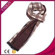 new design fashion soft men scarf with grid and stripe pattern sale well