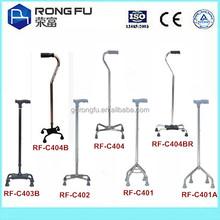 adjustable aluminum+steel walking cane