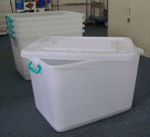2015 New product nestable stackable plastic storage box with lids, shoe storage box, box storage