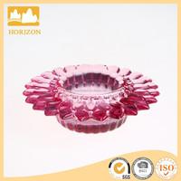 Glass Colored Petal Shape Tea Light