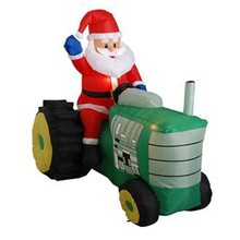 2014 hot wholesales inflatable santa with tractor
