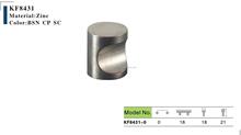 KSF High quality satin chrome furniture knob hardware zamak kitchen cabinet door knob