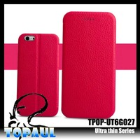 2014 New arrival red color luxury Litchi pattern soft mobile phone case for huawei y320