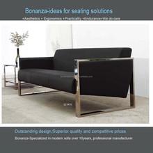modern design leather sofa with metal frame 823#