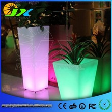 Charming Illumilating Rechargeable RGB Plastic Wedding Flower Stand for Tables