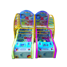 Coin pusher electronic basketball scoring machine/Coin operated street basketball game for sale/sport equipment