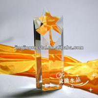 2015 New arrival Star Crystal Glass Trophy Award Crystal Souvenir
