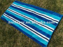 Promotional velour reactive printed beach towel