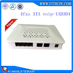 Connect to phone, FAX, Modem, POS machine ,4ports VoIP telephone Gateway Adapter