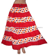 faldas largas faldas algodón diseñador jaipuri
