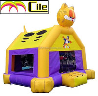 CILE 2015 Newest Cute Cat Closed Inflatable Bouncy Castle Playground for Sale