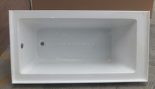 "cupc undermount installation 67"" x 32"" drop-in bath with reversible drain"