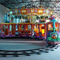 Kids & Adults amusement track electric train for Amusement Park and Shopping Mall