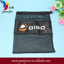 Promotional Cheapest custom printed Drawstring Polyester Mesh Bag with label